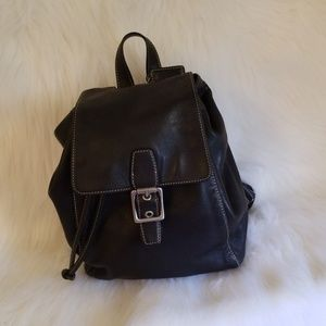 Coach Legacy Black Leather Backpack